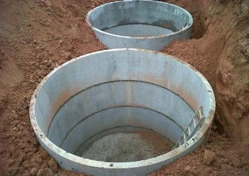 Cisterna-contenção de cheias dutos canais